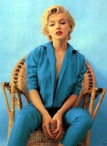 Marylin en bleu