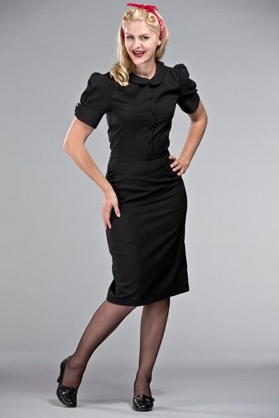 629309c5cb7c Acheter maintenant · Deedy robe noire retro
