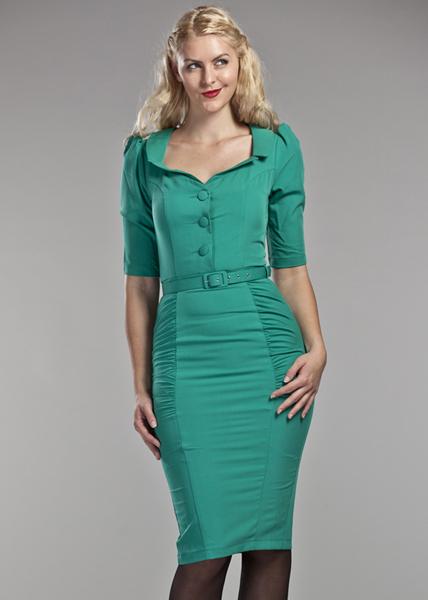 365afe59c315 Robes retro chic inspiration vintage - - robe Emmy de jour rouge à ...