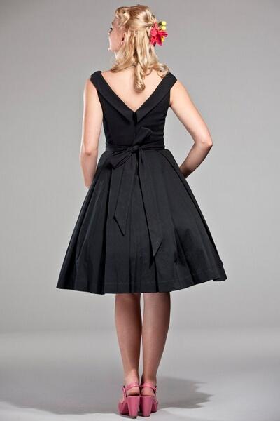 81c0e249d425 Robes retro chic inspiration vintage - - robe Celebration noire emmy ...