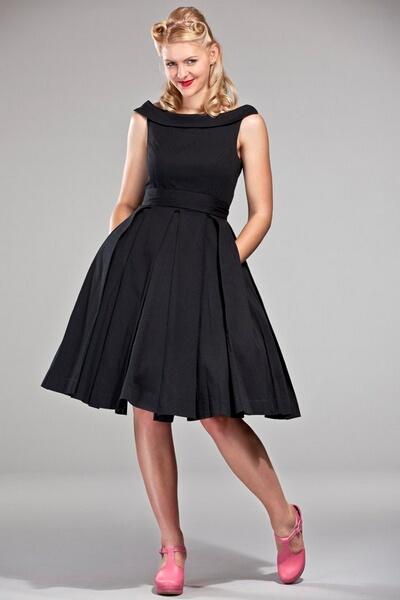 ad6665629e85 Robes retro chic inspiration vintage - - robe Celebration noire emmy ...