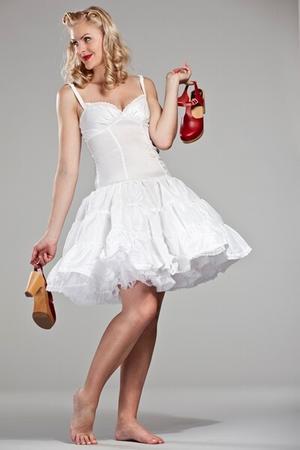 Robe blanche annee 40