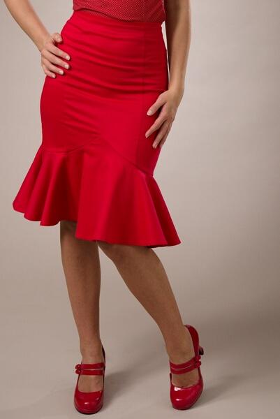 Jupe droite rouge femme   Sveikuoliai e8809fa9feb4